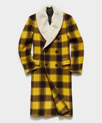 Todd Snyder Italian Buffalo Plaid Winter Coat