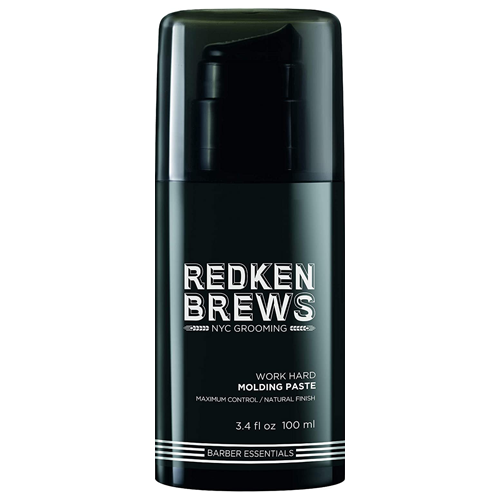 Bottle of Redken Brews Molding Paste for men with high hold and matte/natural finish