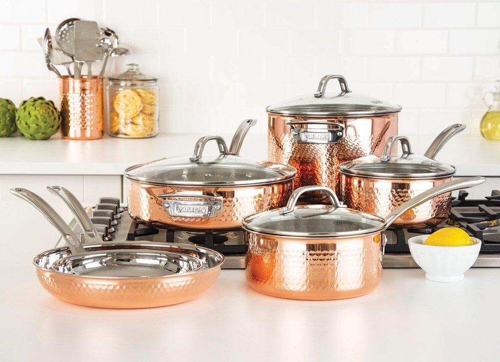 viking copper cookware set
