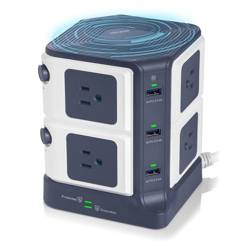 BESTEK 8-Outlet Surge Protector