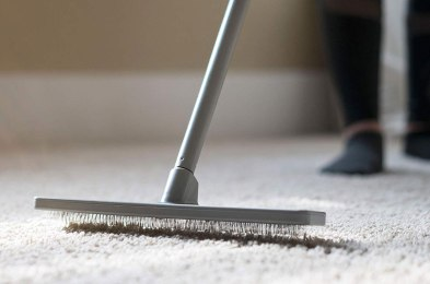 give your floors a deeper clean with a carpet rake