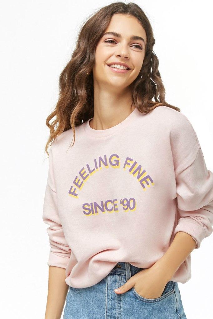 Women's 'Feeling Fine' Graphic Top
