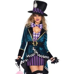 Women's Delightful Mad Hatter Halloween Costume
