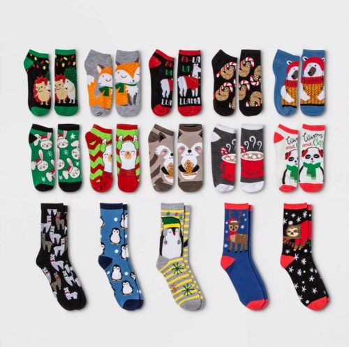 Holiday Critter Advent Calendar Christmas Socks