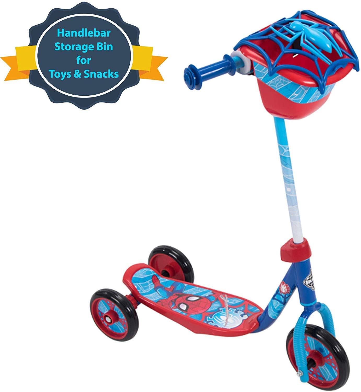 spiderman toys huffy preschool scooter