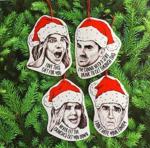 Schitt's Creek Paper Christmas Tree Ornament Set
