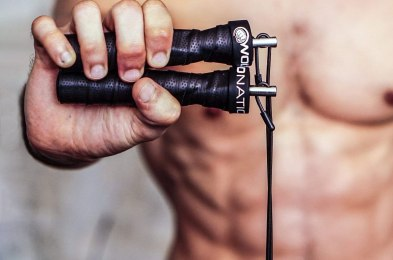 burn more calories during your at-home workouts with a weighted jump rope