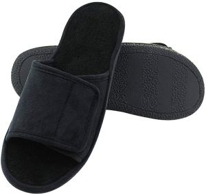 Magtoe Men's Washable Microfiber Suede Slippers