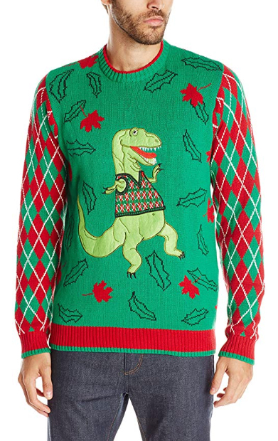 funny christmas sweaters mens - Blizzard Bay T-Rex Sweater