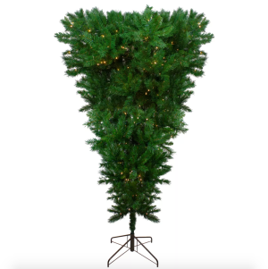 upside down led christmas tree from northlight