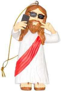 funny christmas ornaments- Costume Agent Jesus Selfie Ornament