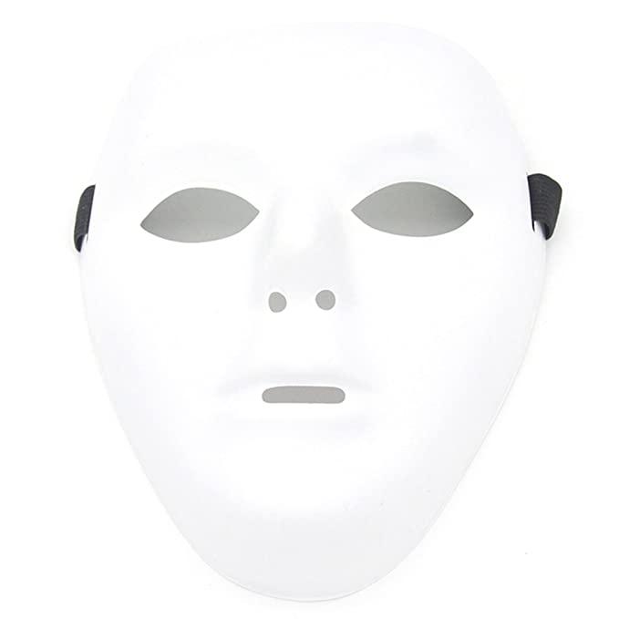 Plain white halloween mask