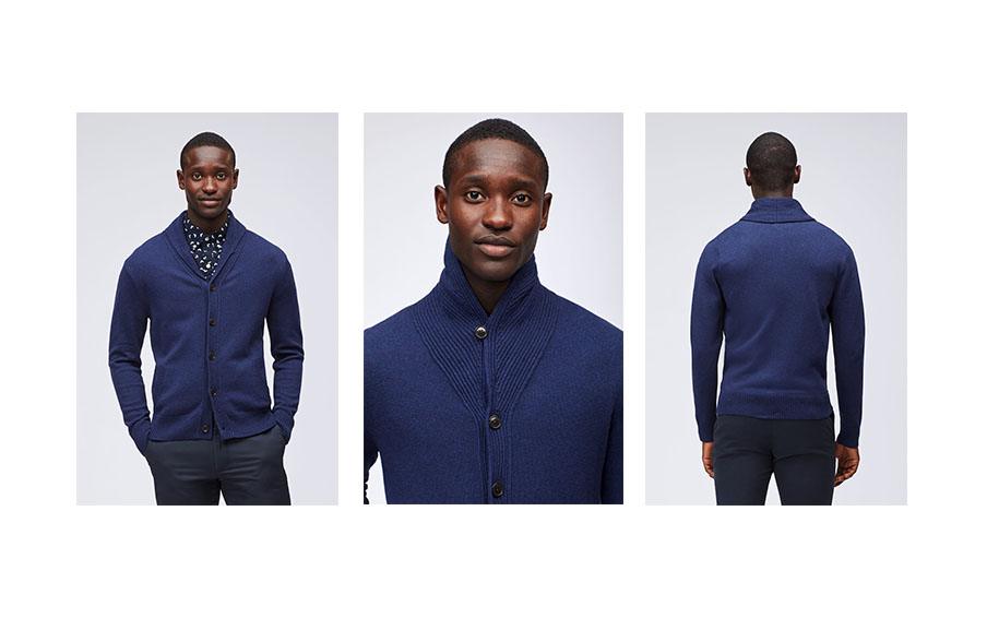 navy shawl bonobos sweater