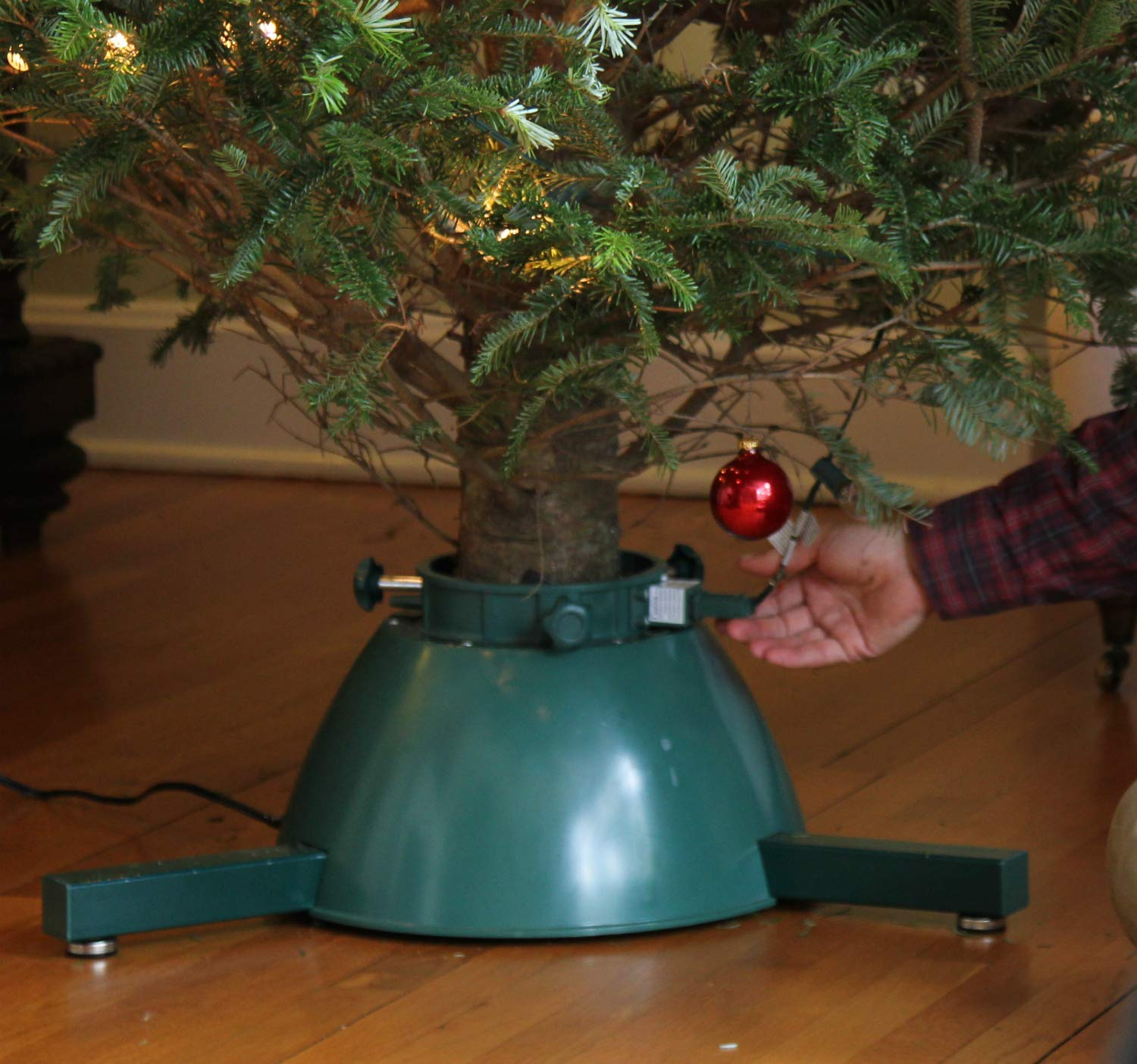 christmas tree stand elf logic rotating