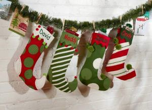 personalized christmas stockings elf socks