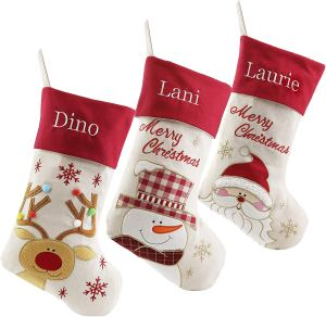 personalized christmas stockings linen family
