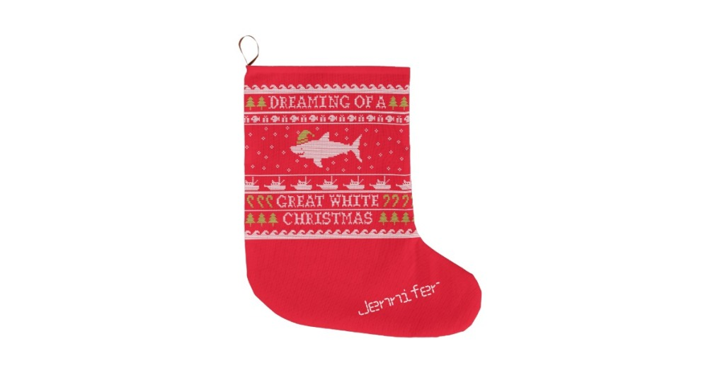 personalized christmas stockings shark