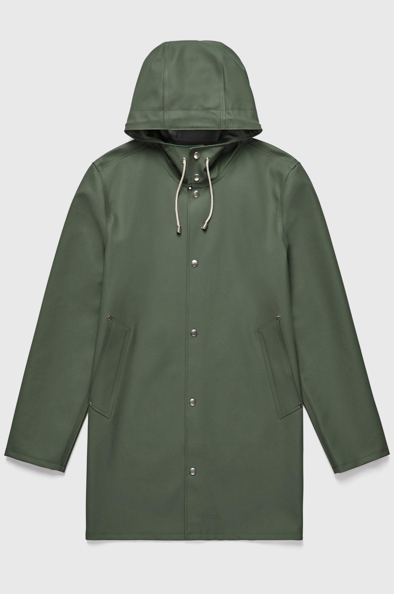 Stutterheim men's Stockholm raincoat green