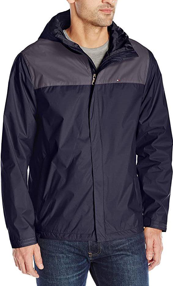 Tommy Hilfiger men's waterproof hooded jacket