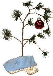 tabletop christmas tree charlie brown
