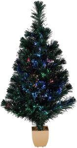 tabletop christmas tree fiber optic holiday time