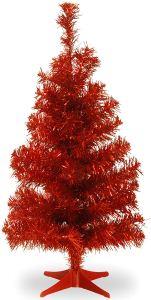 tabletop christmas tree red national tree