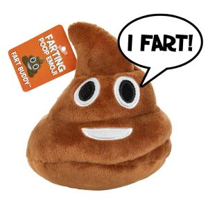 emoji plush poop fart sounds