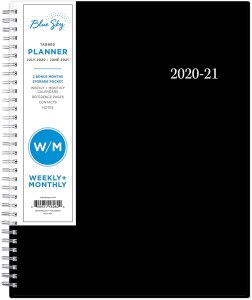 Blue Sky Academic Year Weekly & Monthly Planner