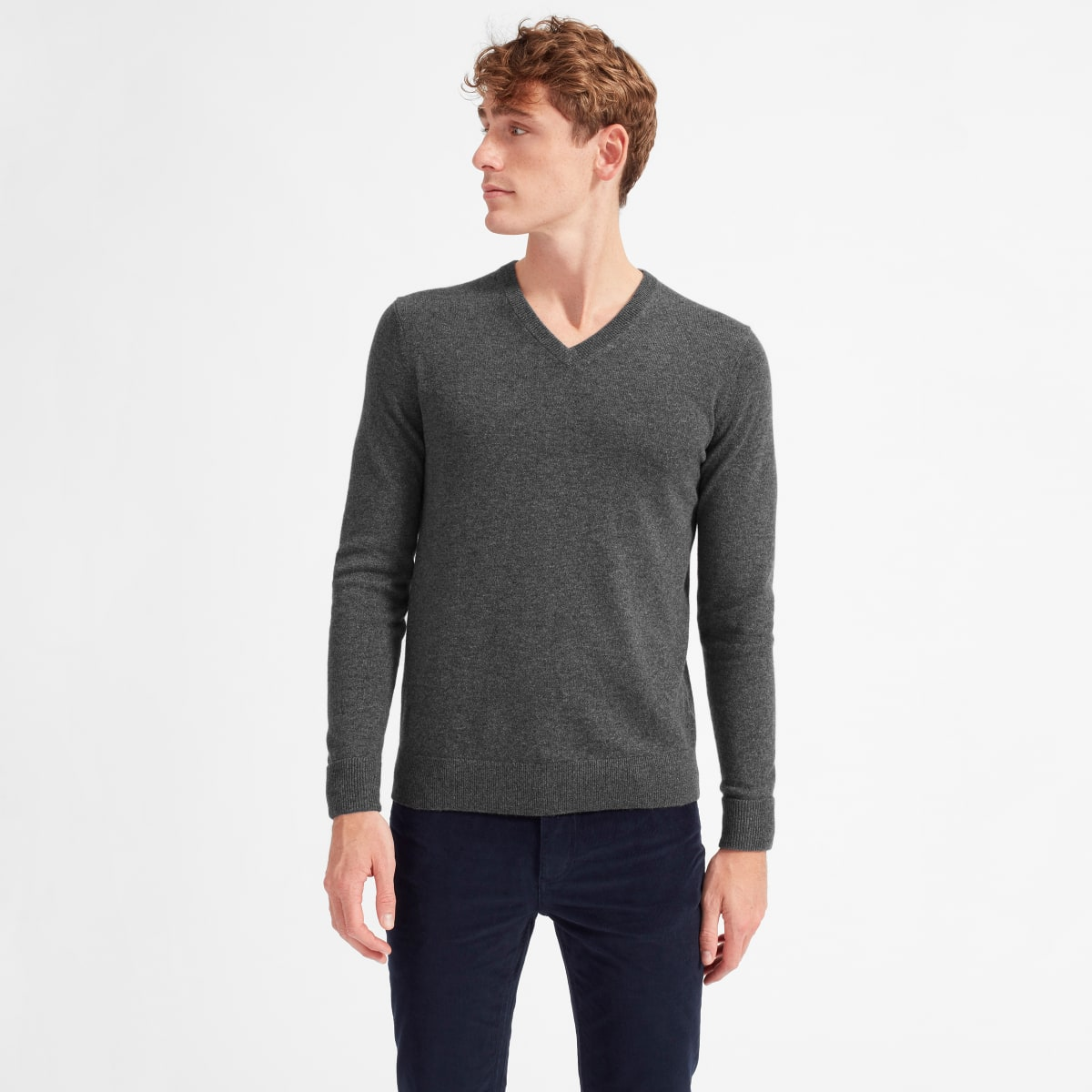 Everlane cashmere v-neck, men's cashmere, cashmere sweaters