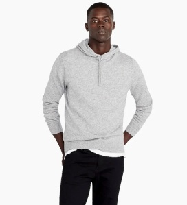 J-crew cashmere hoodie, men's cashmere