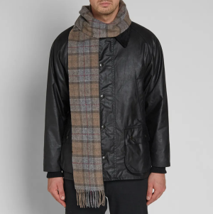Barbour Tartan Lambswool Scarf, best men's scarves