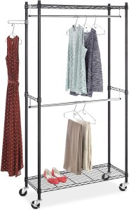 Whitmor Supreme Double Rod Garment Rack