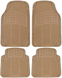 BDK Heavy Duty Front and Rear Rubber Floor Mats