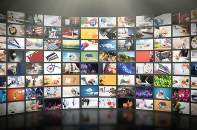 Television Streaming Video Concept. Media Tv Video On Demand Tec