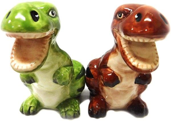 best hostess gifts, dinosaur salt shakers