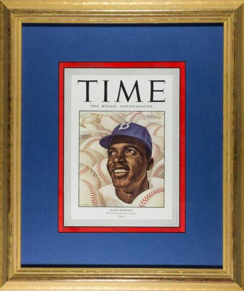 Framed Jackie Robinson TIME Magazine Cover