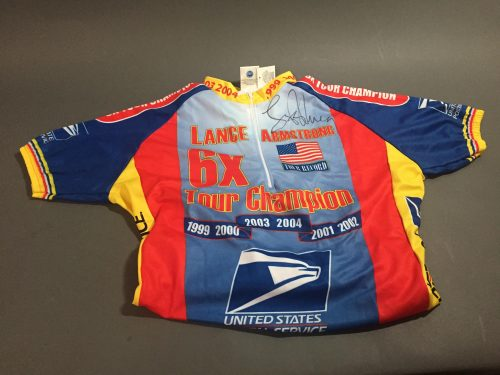 Lance Armstrong Signed Commemorative Jersey