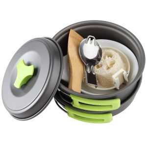MalloMe 1 Liter Camping Cookware Mess Kit