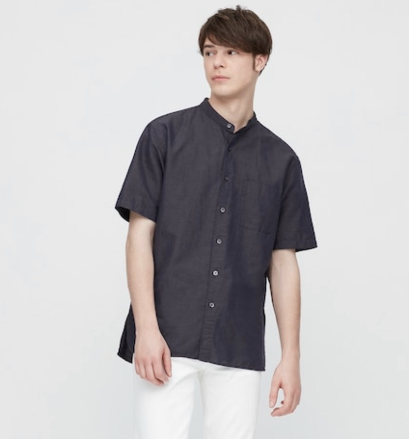 Men's Linen Short Sleeve Shirt Uniqlo