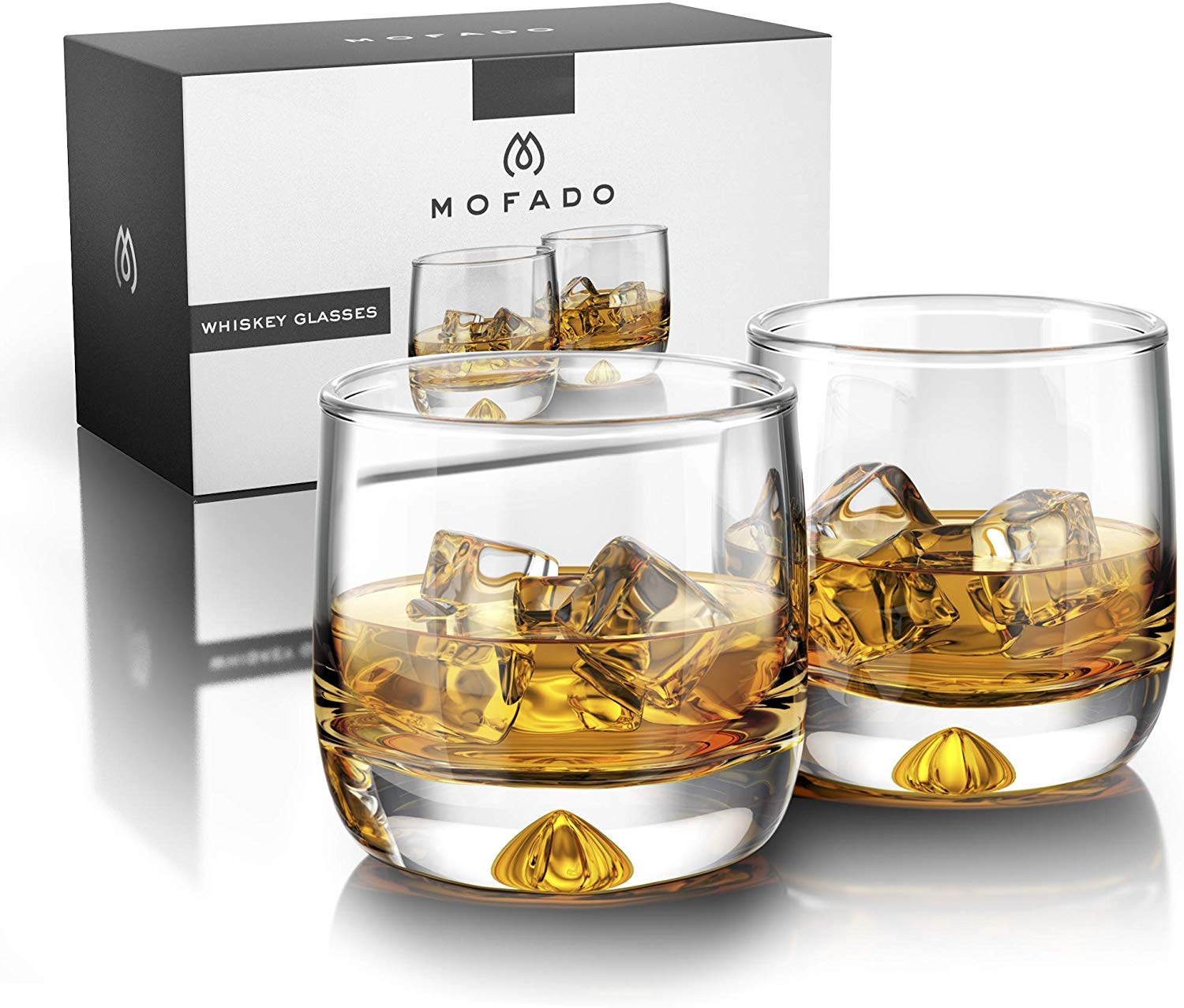 Mofado Crystal Whiskey Glasses - Best Gifts for Dad 2020