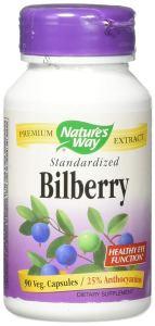 Nature's Way Bilberry Standardized Extract Veg Capsules