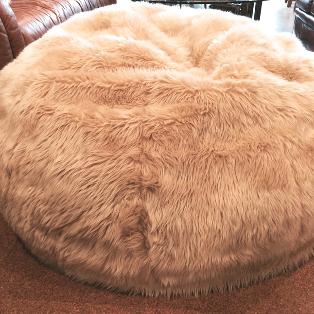 giant fluffy beanbag chair