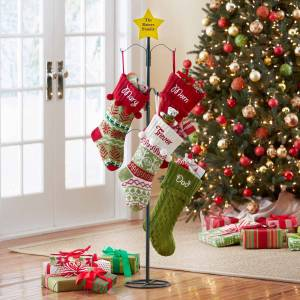 Generic personalized metal christmas stocking holder