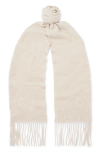 Acne Studios Men's Fringed Mélange Wool Scarf (in beige)
