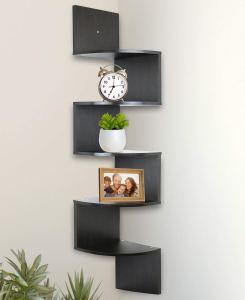 best floating bookshelves corner