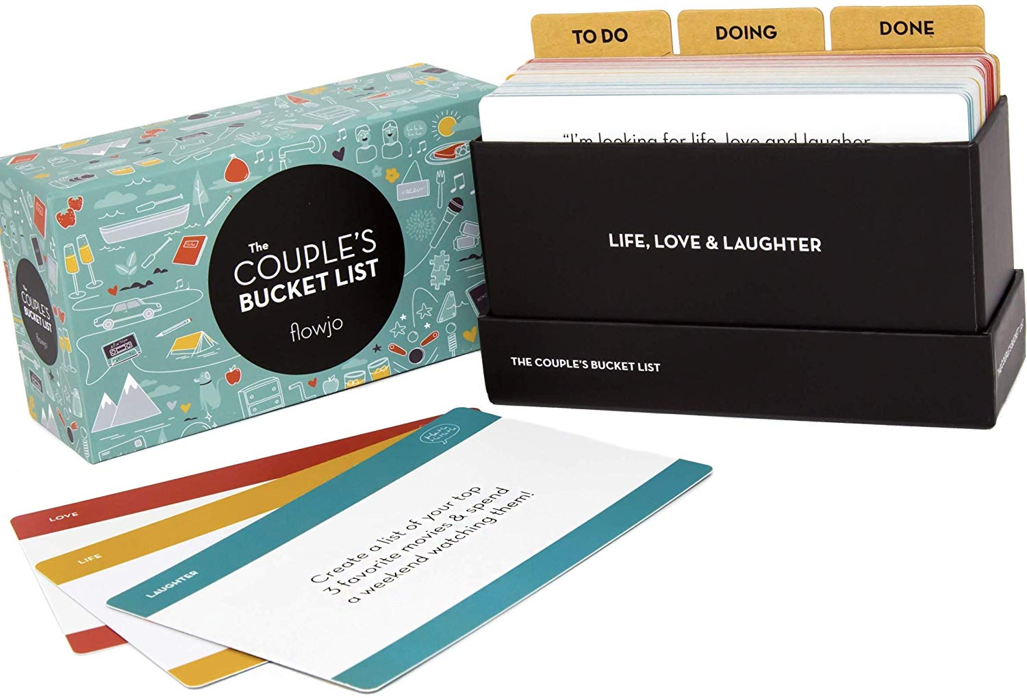 he Couples Bucket List - 100 Date Night Idea Cards - Best Valentines