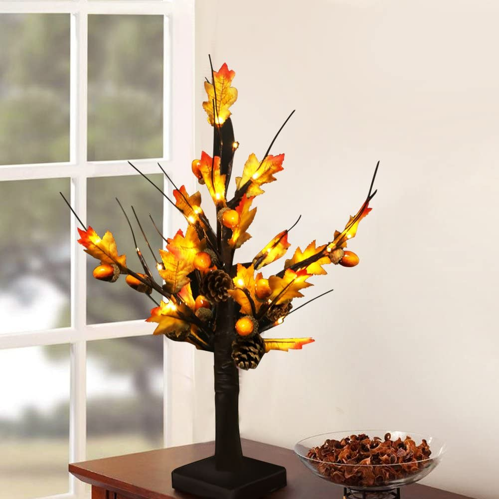 """Bright Zeal 20"""" Tall LED Maple Tree Lights"""