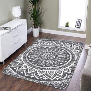 area rug grey washable