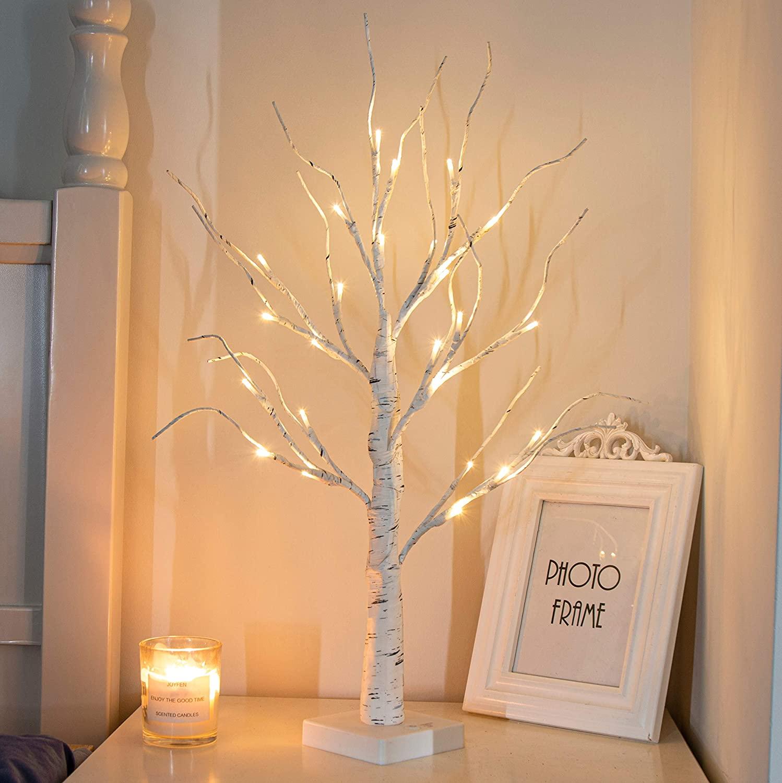 PEIDUO Lighted Birch Tree