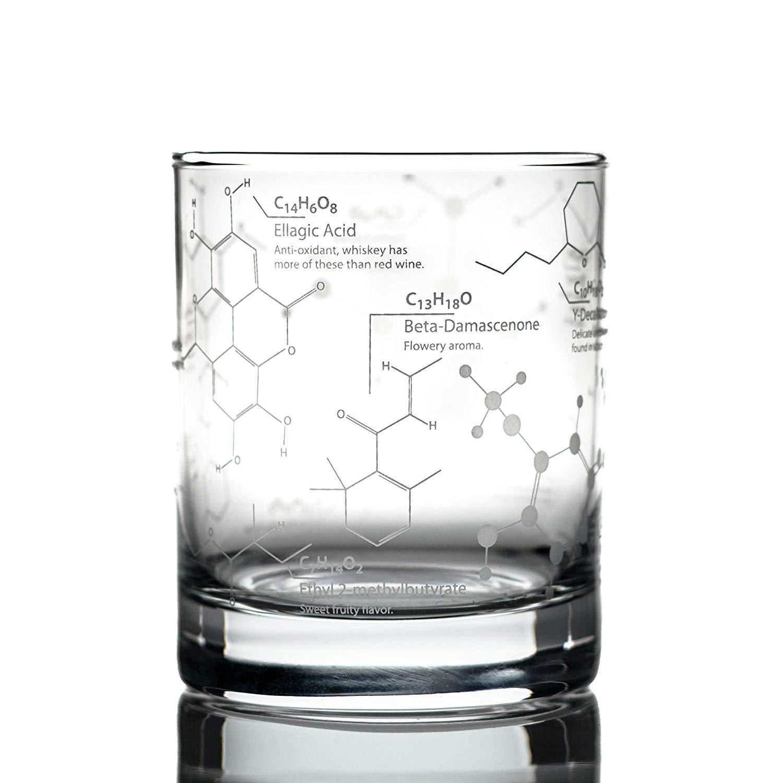 Greenline Goods Chemistry Whiskey Glasses